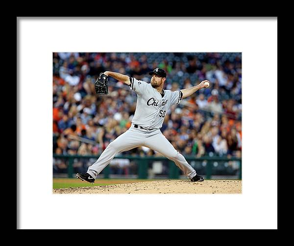 American League Baseball Framed Print featuring the photograph John Danks by Duane Burleson
