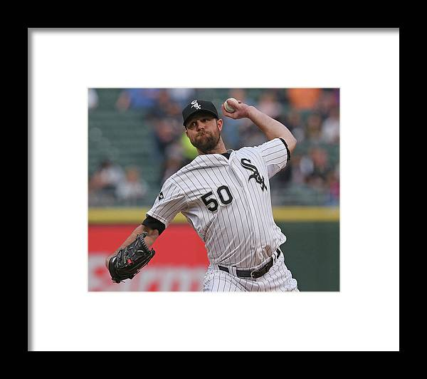 American League Baseball Framed Print featuring the photograph John Danks by Jonathan Daniel