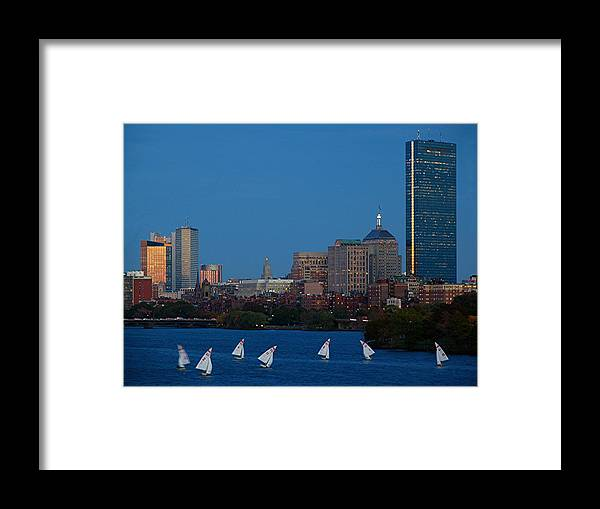 Boston Framed Print featuring the photograph John Hancock Building by Juergen Roth