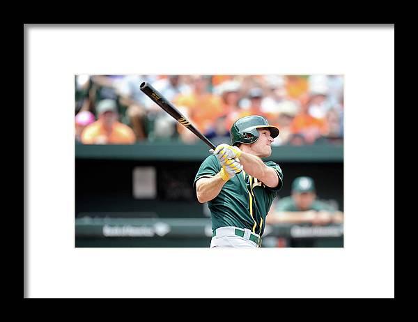 American League Baseball Framed Print featuring the photograph John Jaso by Greg Fiume