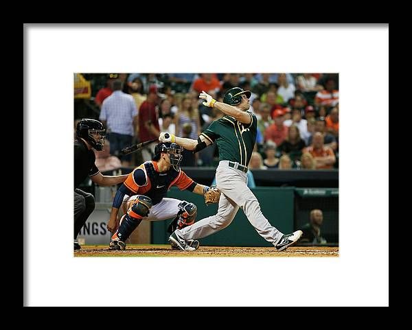 American League Baseball Framed Print featuring the photograph John Jaso by Scott Halleran