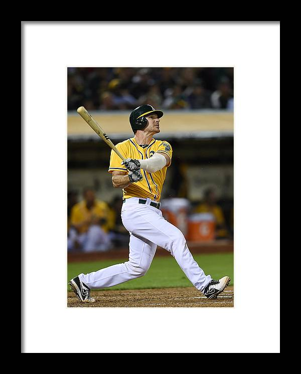 American League Baseball Framed Print featuring the photograph John Jaso by Thearon W. Henderson