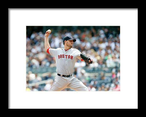 American League Baseball Framed Print featuring the photograph John Lackey by Jim Mcisaac