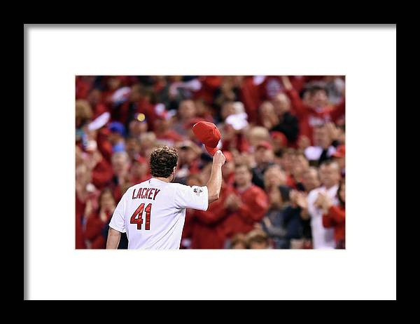 St. Louis Cardinals Framed Print featuring the photograph John Lackey by Michael B. Thomas