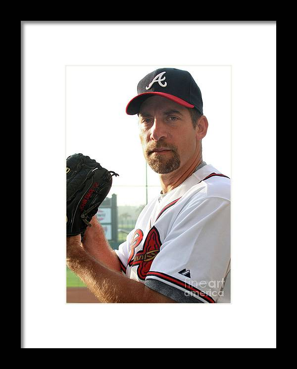 Media Day Framed Print featuring the photograph John Smoltz by Icon Sports Wire