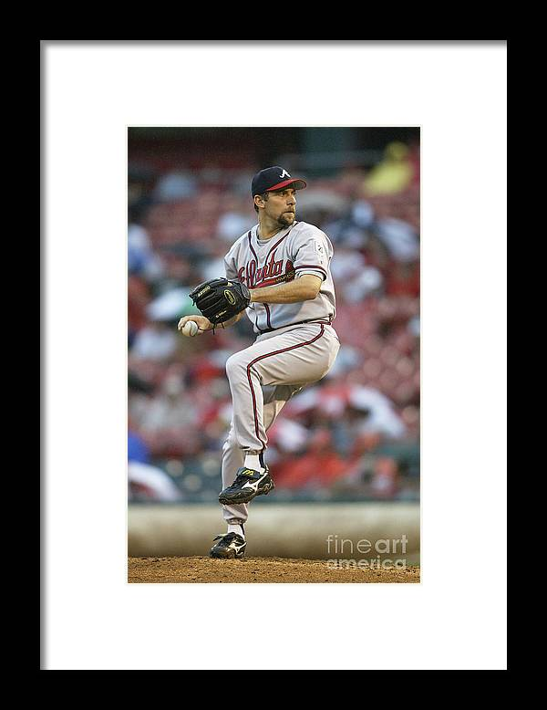 John Smoltz Framed Print featuring the photograph John Smoltz by John Grieshop