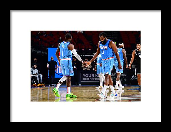 Nba Pro Basketball Framed Print featuring the photograph John Wall and James Harden by Cato Cataldo