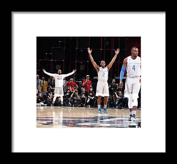 Event Framed Print featuring the photograph John Wall and Kyrie Irving by Nathaniel S. Butler