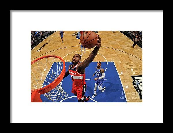 Nba Pro Basketball Framed Print featuring the photograph John Wall by Fernando Medina