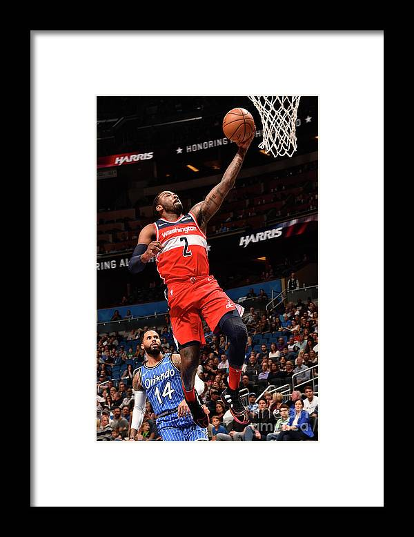Nba Pro Basketball Framed Print featuring the photograph John Wall by Gary Bassing