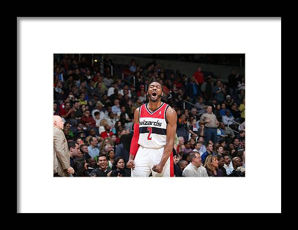 Nba Pro Basketball Framed Print featuring the photograph John Wall by Stephen Gosling
