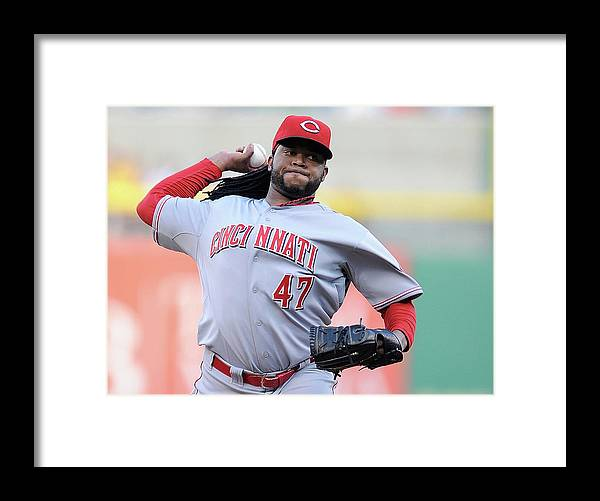 Pnc Park Framed Print featuring the photograph Johnny Cueto by Joe Sargent