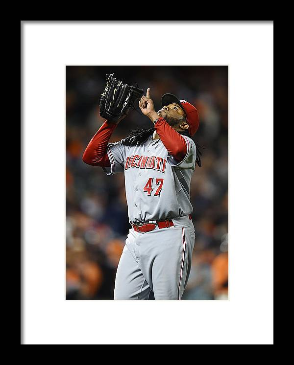 San Francisco Framed Print featuring the photograph Johnny Cueto by Thearon W. Henderson