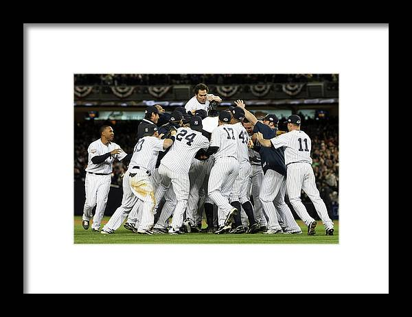 American League Baseball Framed Print featuring the photograph Johnny Damon by Nick Laham