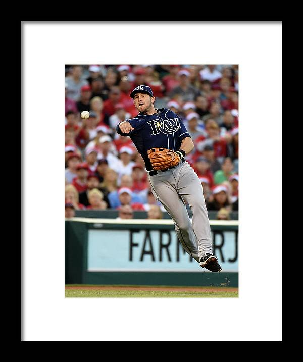 People Framed Print featuring the photograph Johnny Giavotella and Evan Longoria by Harry How
