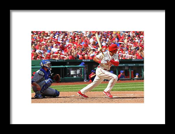 St. Louis Cardinals Framed Print featuring the photograph Jon Jay by Dilip Vishwanat