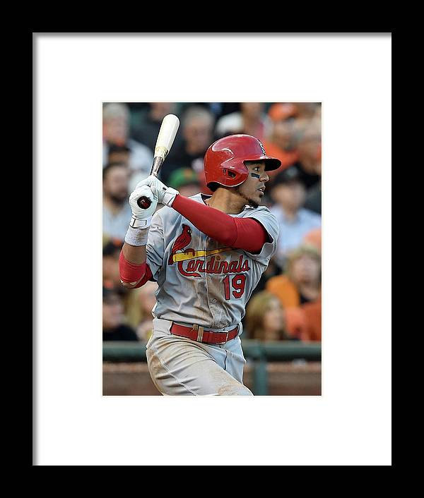 St. Louis Cardinals Framed Print featuring the photograph Jon Jay by Thearon W. Henderson