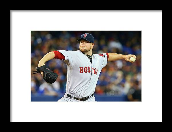 Second Inning Framed Print featuring the photograph Jon Lester by Abelimages