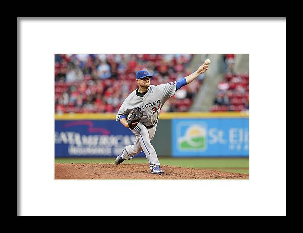 Great American Ball Park Framed Print featuring the photograph Jon Lester by Andy Lyons