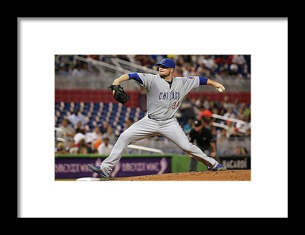 People Framed Print featuring the photograph Jon Lester by Mike Ehrmann