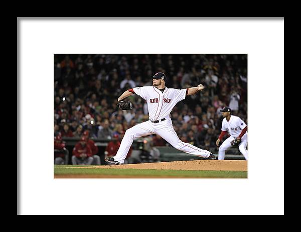 Playoffs Framed Print featuring the photograph Jon Lester by Ron Vesely
