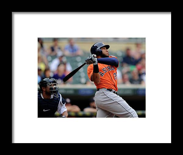Ninth Inning Framed Print featuring the photograph Jon Singleton by Hannah Foslien