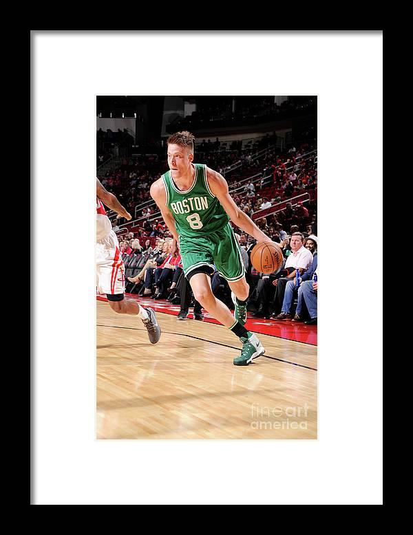 Nba Pro Basketball Framed Print featuring the photograph Jonas Jerebko by Bill Baptist