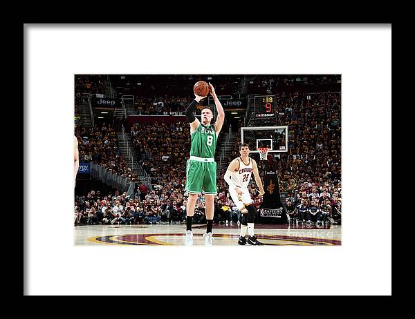 Playoffs Framed Print featuring the photograph Jonas Jerebko by Nathaniel S. Butler