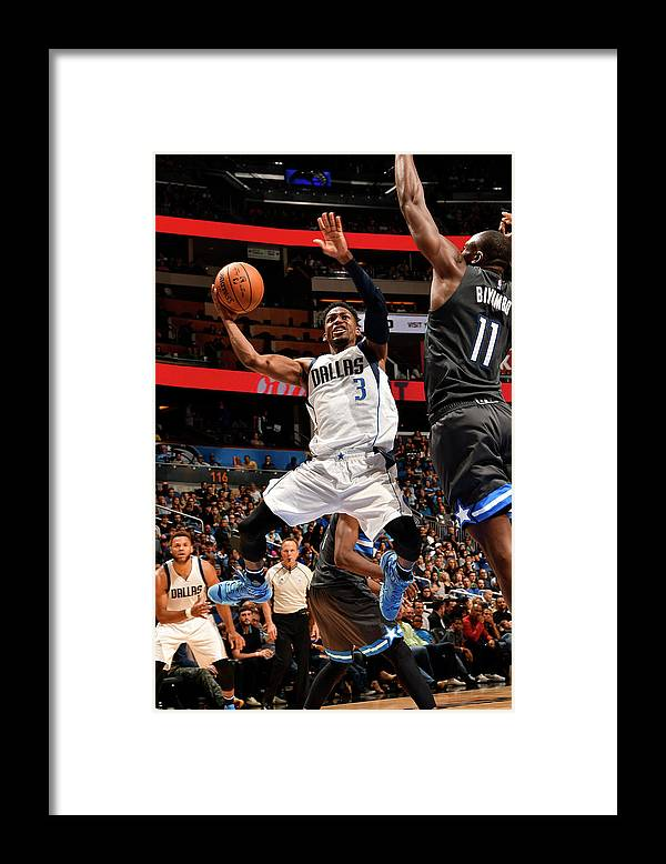 Nba Pro Basketball Framed Print featuring the photograph Jonathan Gibson by Fernando Medina