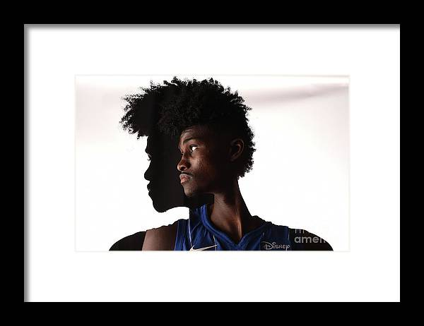 Nba Pro Basketball Framed Print featuring the photograph Jonathan Isaac by Brian Babineau