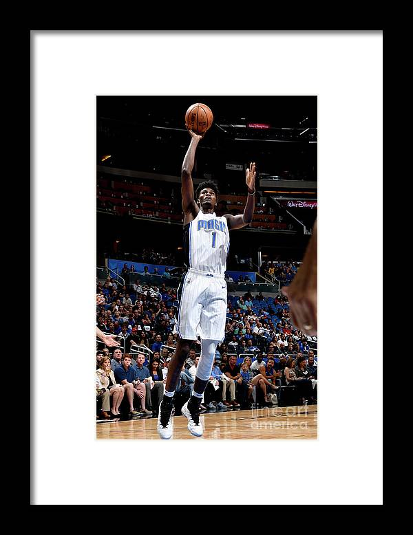 Nba Pro Basketball Framed Print featuring the photograph Jonathan Isaac by Fernando Medina