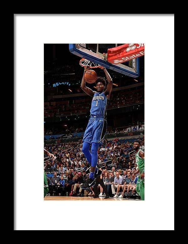 Nba Pro Basketball Framed Print featuring the photograph Jonathan Isaac by Gary Bassing