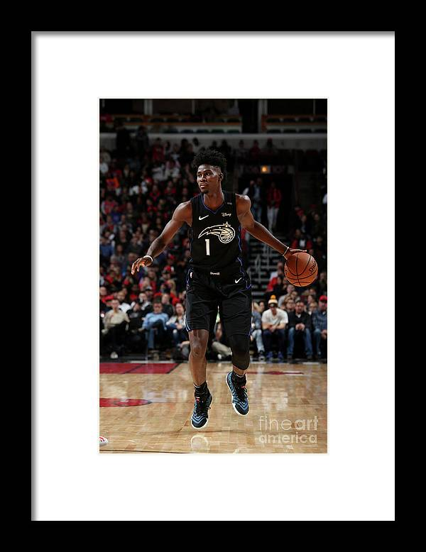 Nba Pro Basketball Framed Print featuring the photograph Jonathan Isaac by Gary Dineen