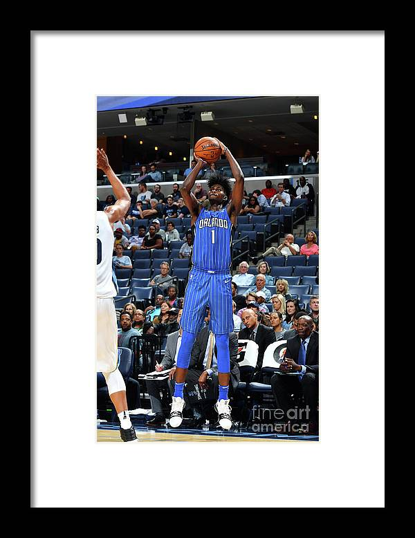 Nba Pro Basketball Framed Print featuring the photograph Jonathan Isaac by Jesse D. Garrabrant