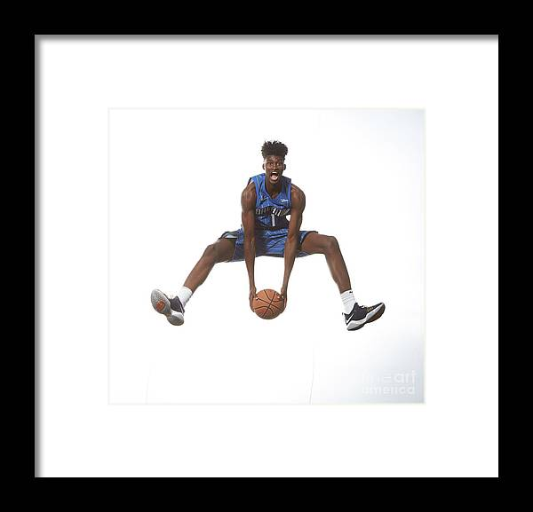 Nba Pro Basketball Framed Print featuring the photograph Jonathan Isaac by Nathaniel S. Butler