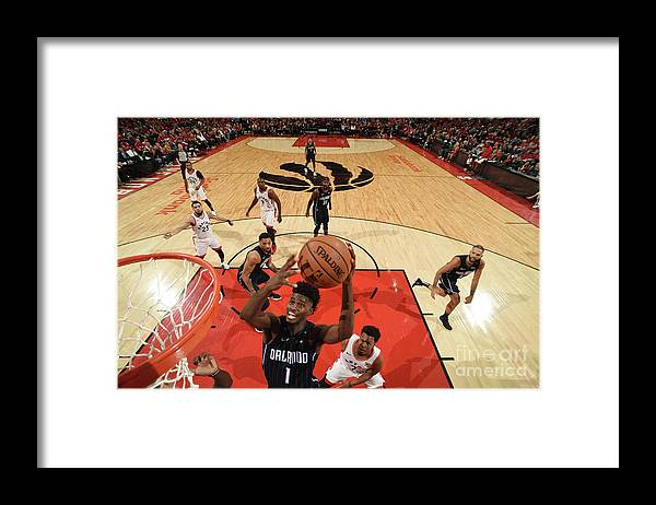Playoffs Framed Print featuring the photograph Jonathan Isaac by Ron Turenne