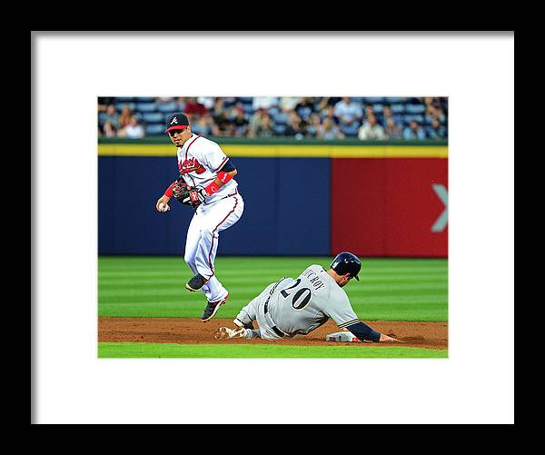 Atlanta Framed Print featuring the photograph Jonathan Lucroy and Ramiro Pena by Scott Cunningham