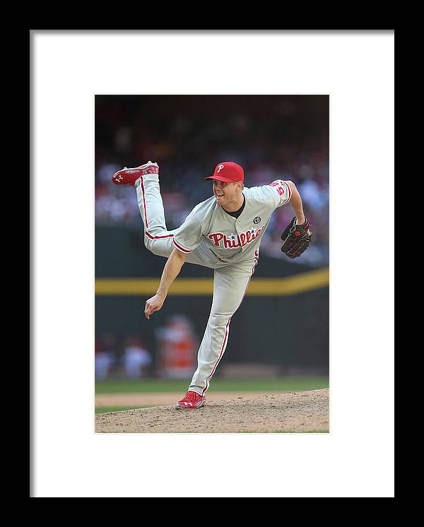 Relief Pitcher Framed Print featuring the photograph Jonathan Papelbon by Christian Petersen
