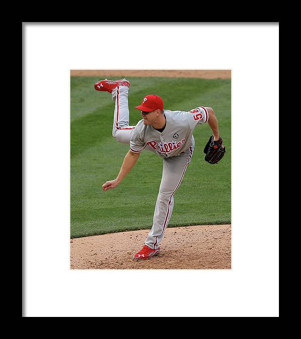 National League Baseball Framed Print featuring the photograph Jonathan Papelbon by Doug Pensinger