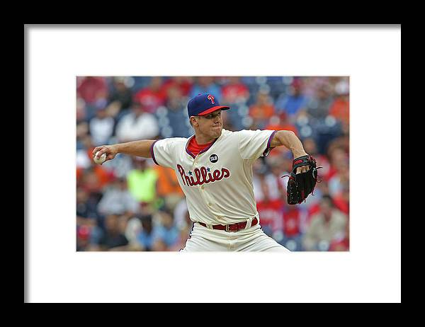 Three Quarter Length Framed Print featuring the photograph Jonathan Papelbon by Hunter Martin