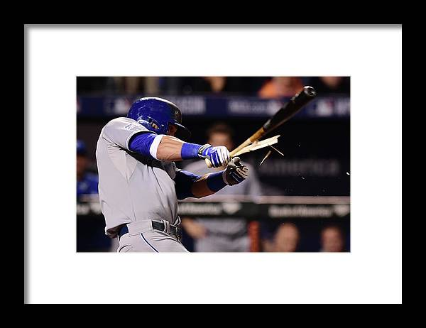 American League Baseball Framed Print featuring the photograph Jonathan Schoop and Alex Gordon by Patrick Smith