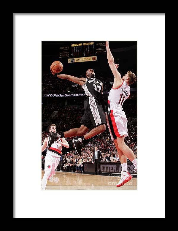 Nba Pro Basketball Framed Print featuring the photograph Jonathon Simmons by Cameron Browne
