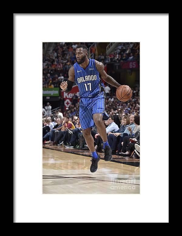 Nba Pro Basketball Framed Print featuring the photograph Jonathon Simmons by David Liam Kyle