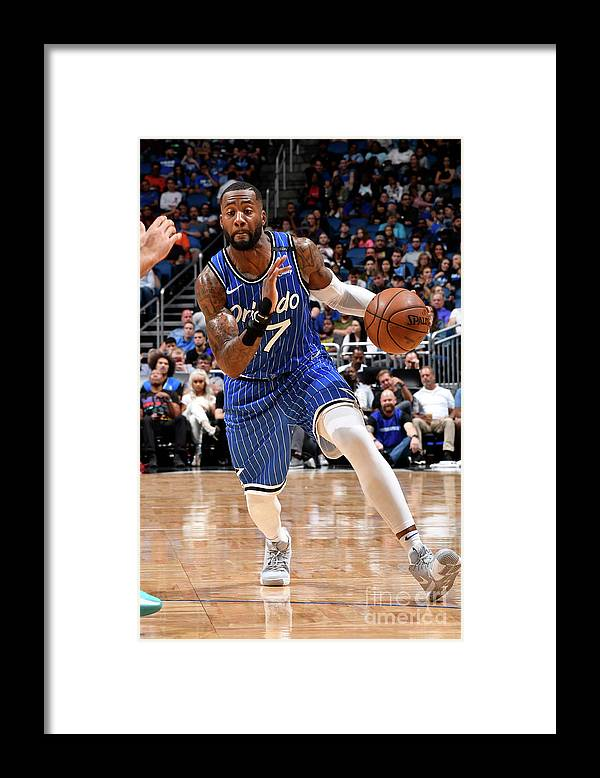 Nba Pro Basketball Framed Print featuring the photograph Jonathon Simmons by Fernando Medina