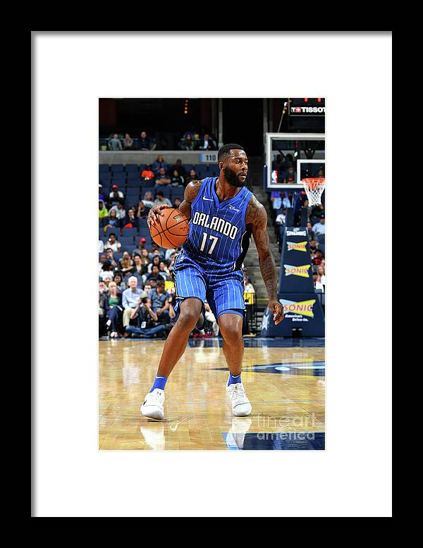 Nba Pro Basketball Framed Print featuring the photograph Jonathon Simmons by Jesse D. Garrabrant