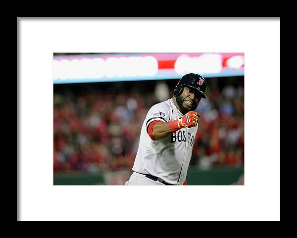 Playoffs Framed Print featuring the photograph Jonny Gomes and David Ortiz by Ron Vesely