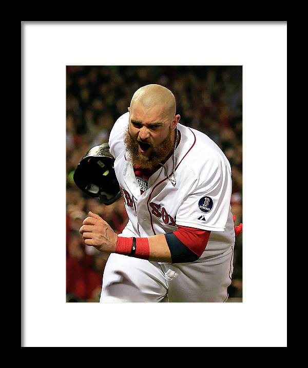 Playoffs Framed Print featuring the photograph Jonny Gomes and Shane Victorino by Jamie Squire