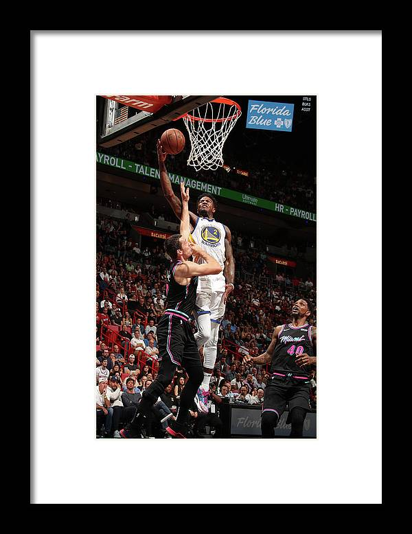 Nba Pro Basketball Framed Print featuring the photograph Jordan Bell by Issac Baldizon