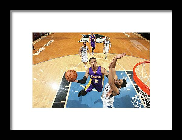 Nba Pro Basketball Framed Print featuring the photograph Jordan Clarkson by David Sherman