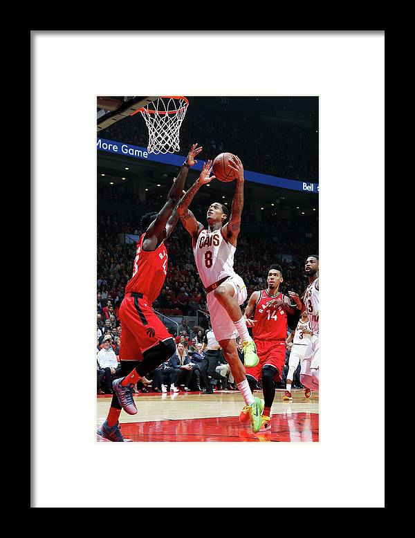 Nba Pro Basketball Framed Print featuring the photograph Jordan Clarkson by Mark Blinch